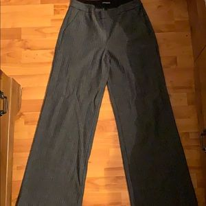 Express Pants - Express gray striped pants size 10R